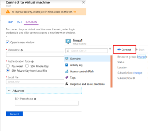 New VM connect options in Azure Portal