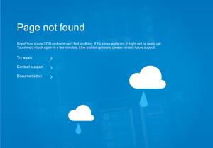 Azure CDN 'page not found' error screenshot
